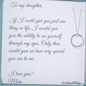 Daughter Necklace To Daughter From Mom Daughters Poem Birthday Gift For Daughter Wed Tochter Geburtstag Spruche Gedichte Fur Tochter Brief An Meine Tochter