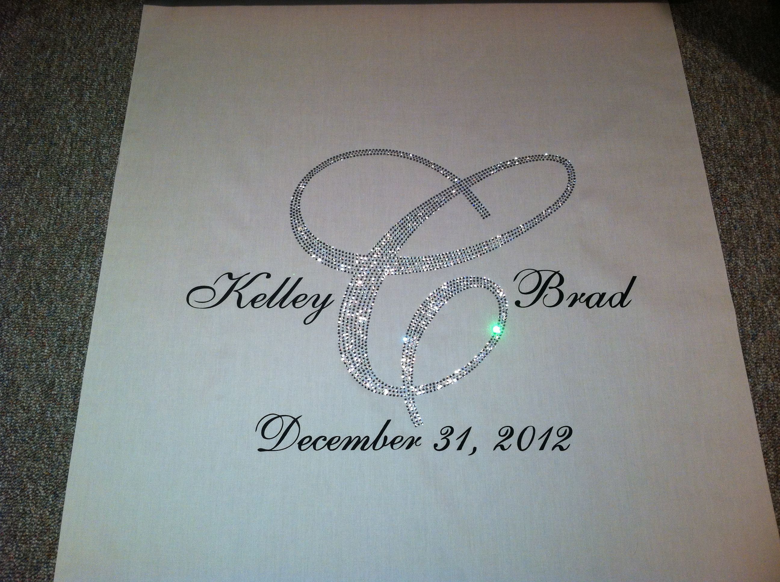 Swarovski Crystal Wedding Aisle Runner By Www Customizedweddingcreations