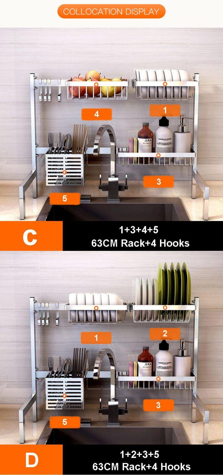 RackShack™ Over The Sink Dish Drying Rack - Dish Rack #dishracks
