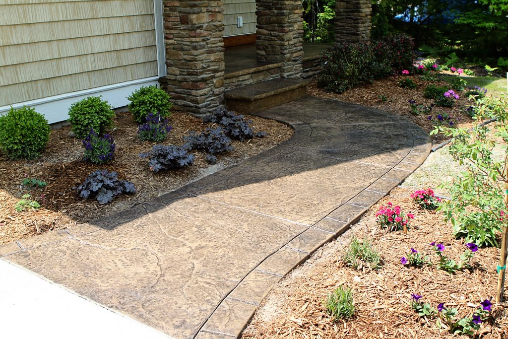 https://flic.kr/p/8zvVj8 | Seamless Stamped Concrete sidewalk with hand tooled…