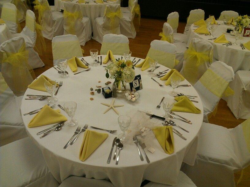 a seaside themed wedding in yellow