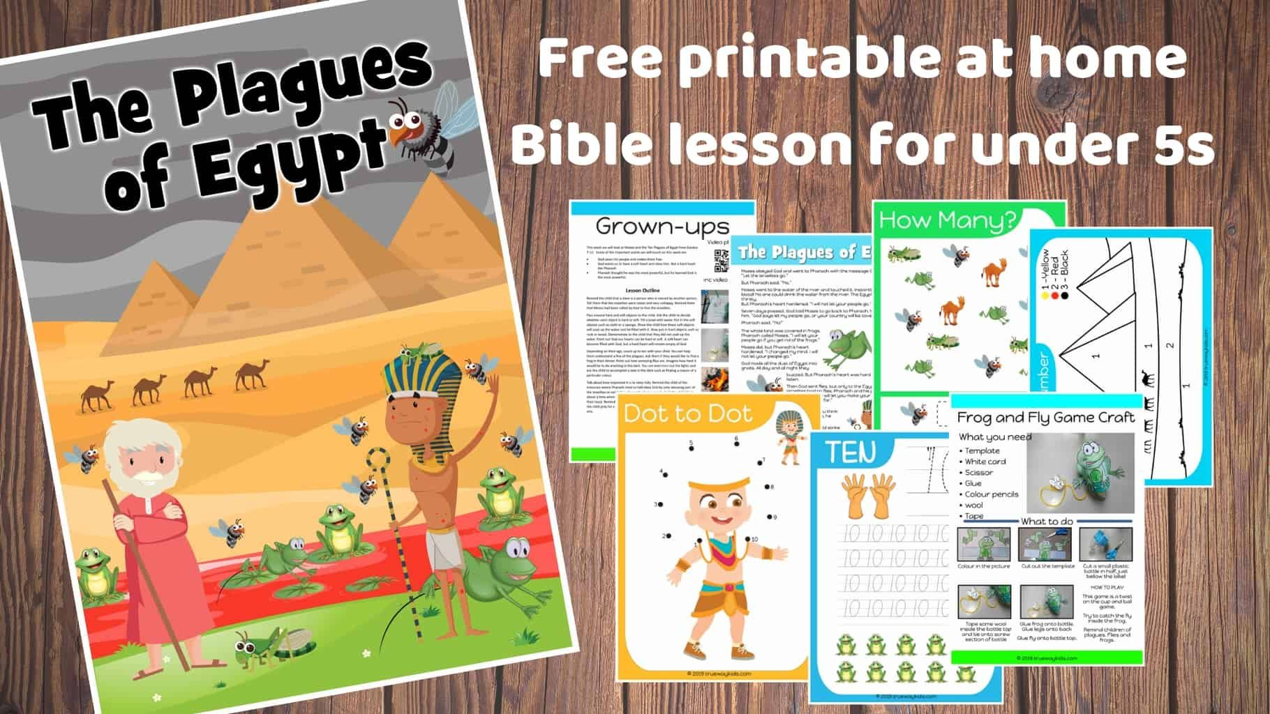Moses And The Plagues Of Egypt Preschool Bible Lesson