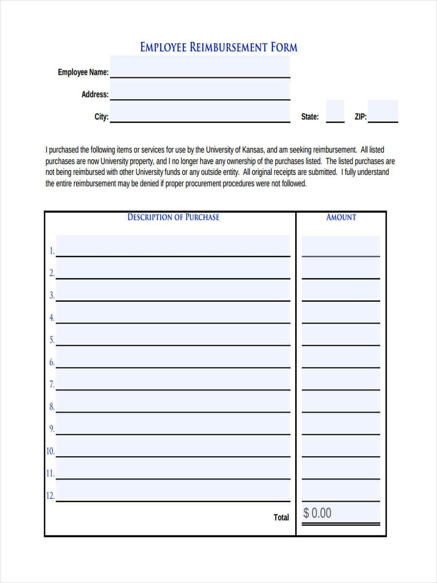 Free 9 Sample Request For Reimbursement Forms In Ms Word Inside Reimbursement Form Template Word Business Template Word Template Ms Word