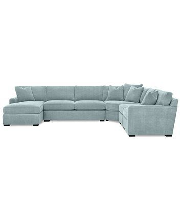 Furniture Radley 5 Piece Fabric Chaise Sectional Sofa Created For Macy S Reviews Furniture Ma Fabric Sectional Sofas Sectional Sofa Sectional Sofa Couch