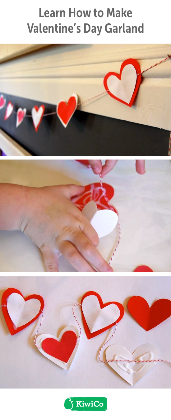 Valentine S Day Garland Diy This Do It Yourself Paper Craft Is