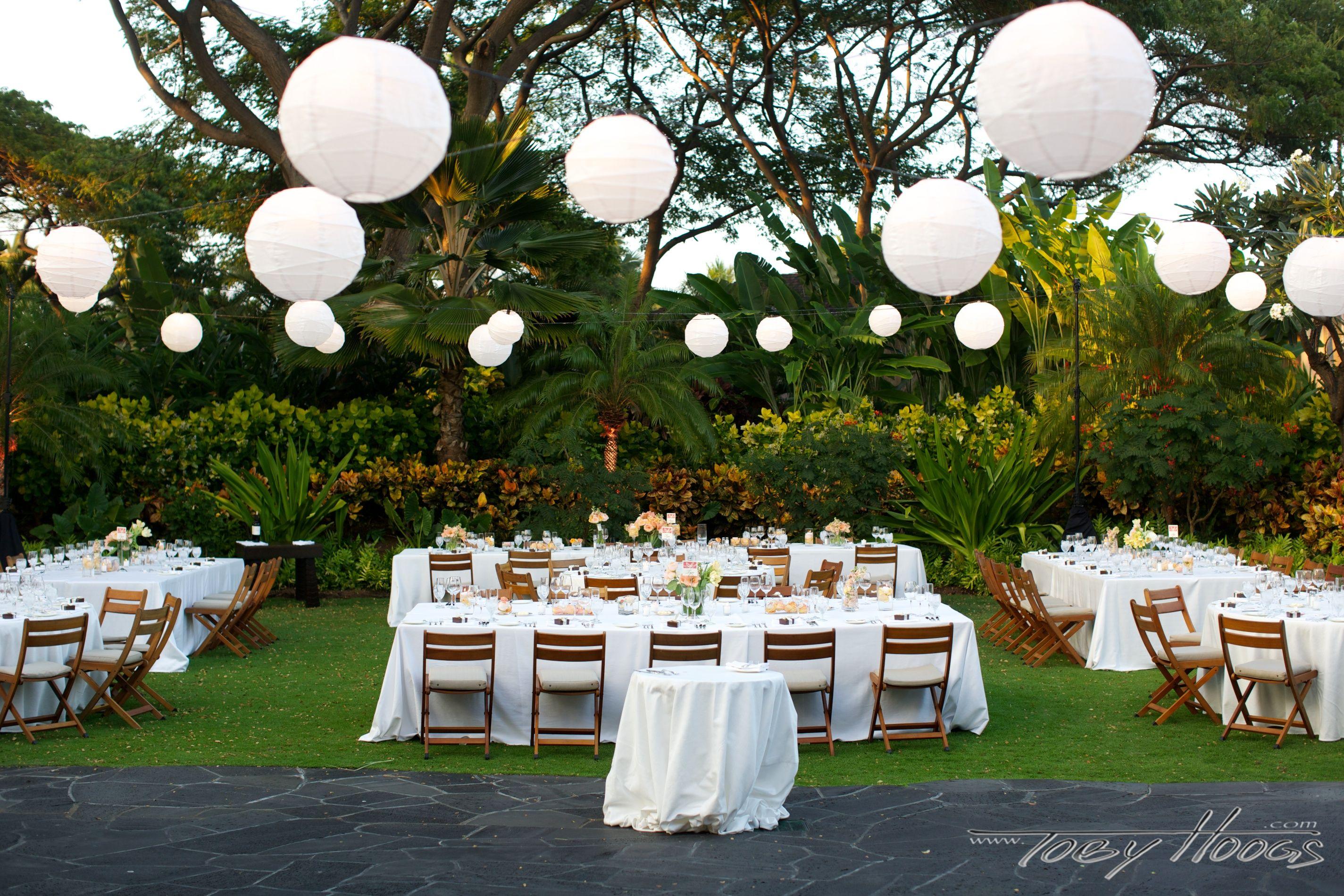 Strings Of Paper Lanterns At Garden Lawn At Four Seasons Resort Hualalai