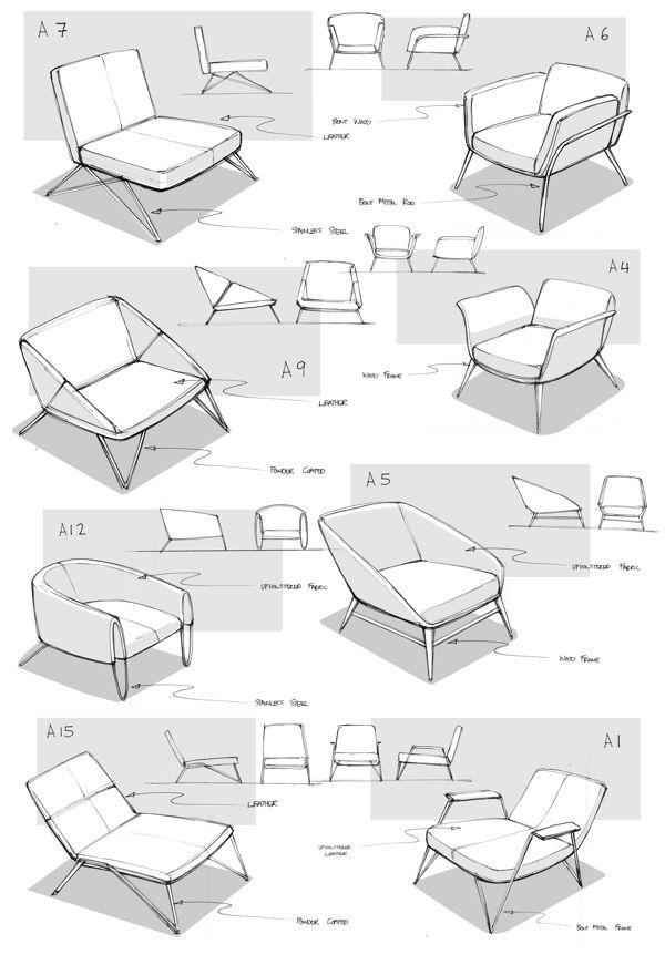 라운지의자디자인 | chairs & stuff | Pinterest | Sketches, Drawings ...