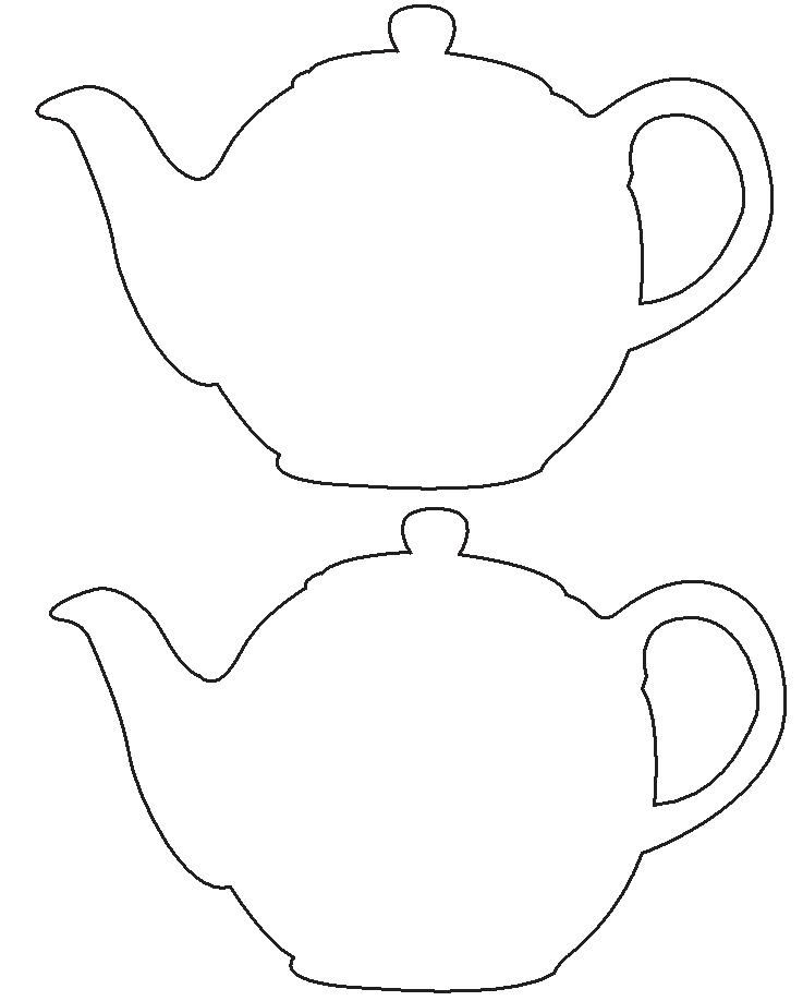 Tea Party Tea Pot Template/Pattern Craft for West Virginia