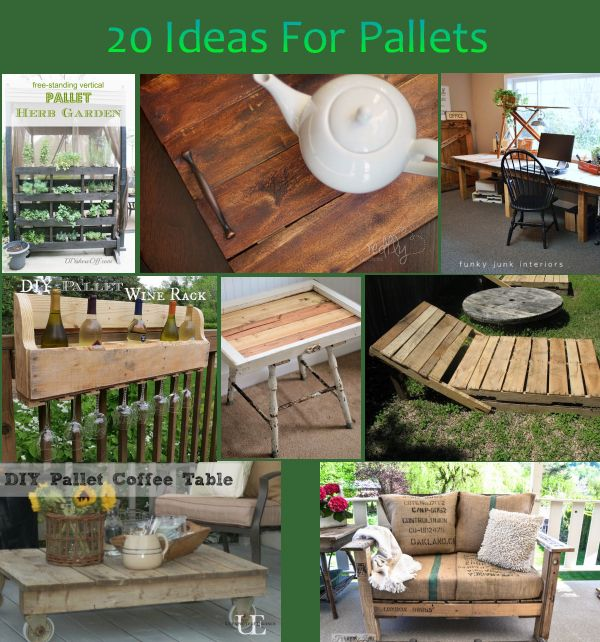 Garden Decor Using Pallets: 20 Diy Projects Using Pallets
