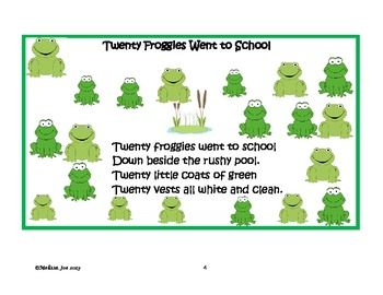 First Days Of School Math Fun 20 Froggies Went To School 2nd Grade