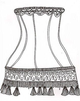 Grace Humphries Illustration Deco Vintage Shop Lampenkap Vintage Lampen