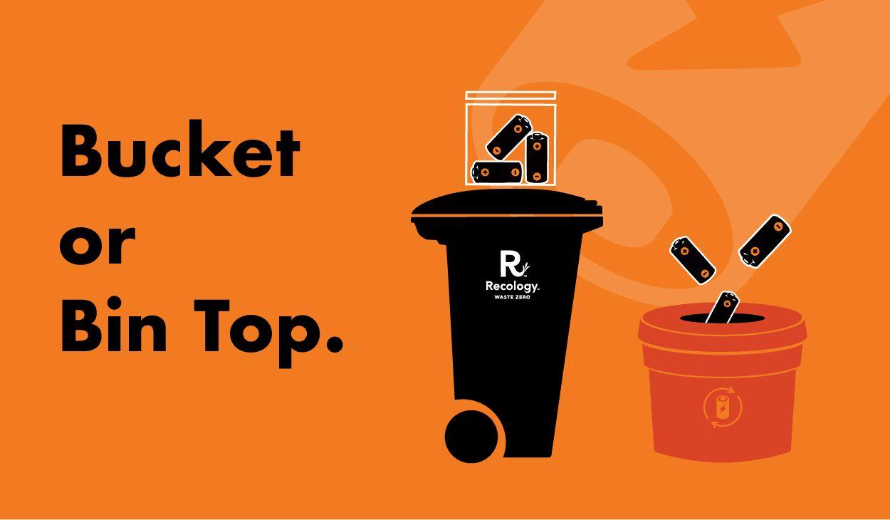 Bucket or bin top types of waste wood waste carpentry