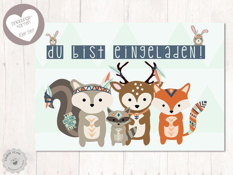 Außergewöhnlich Einladungskarten   Einladung Kindergeburtstag 10St. 10x15cm 2 Seitig   Ein  Designerstück Von Tante