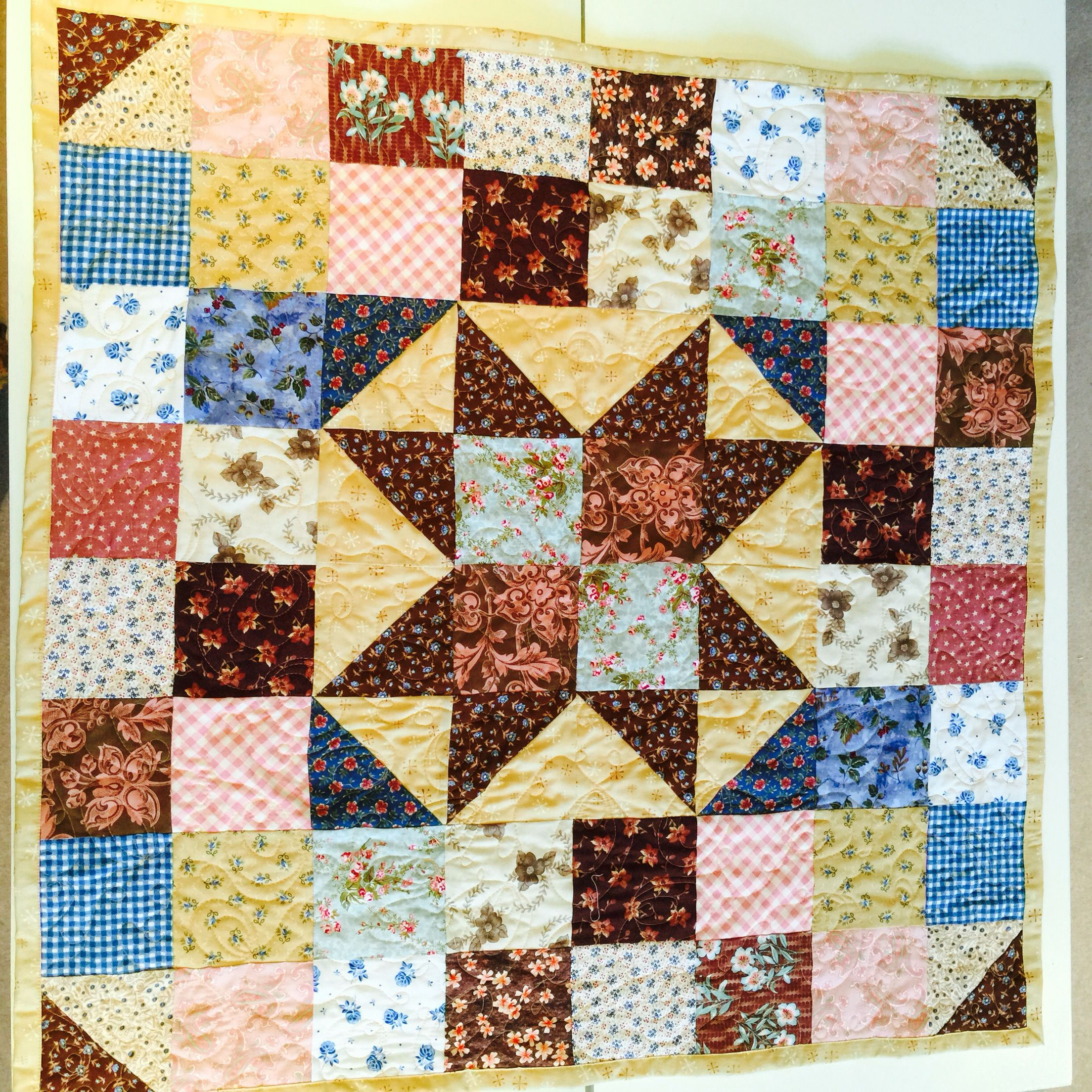 My Challenge! Design and make a quilt in one day! Big Star baby ... : quilt in a day free patterns - Adamdwight.com