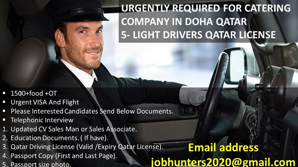 URGENTLY REQUIRED FOR CATERING COMPANY IN DOHA QATAR