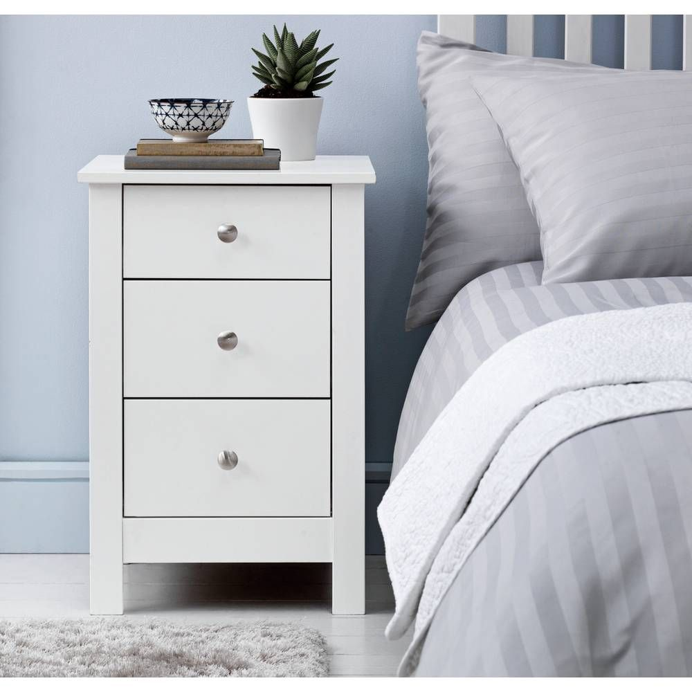 Buy Argos Home Osaka 3 Drawer Bedside Table White Bedside Tables 3 Drawer Bedside Table White Bedside Cabinets White Chests