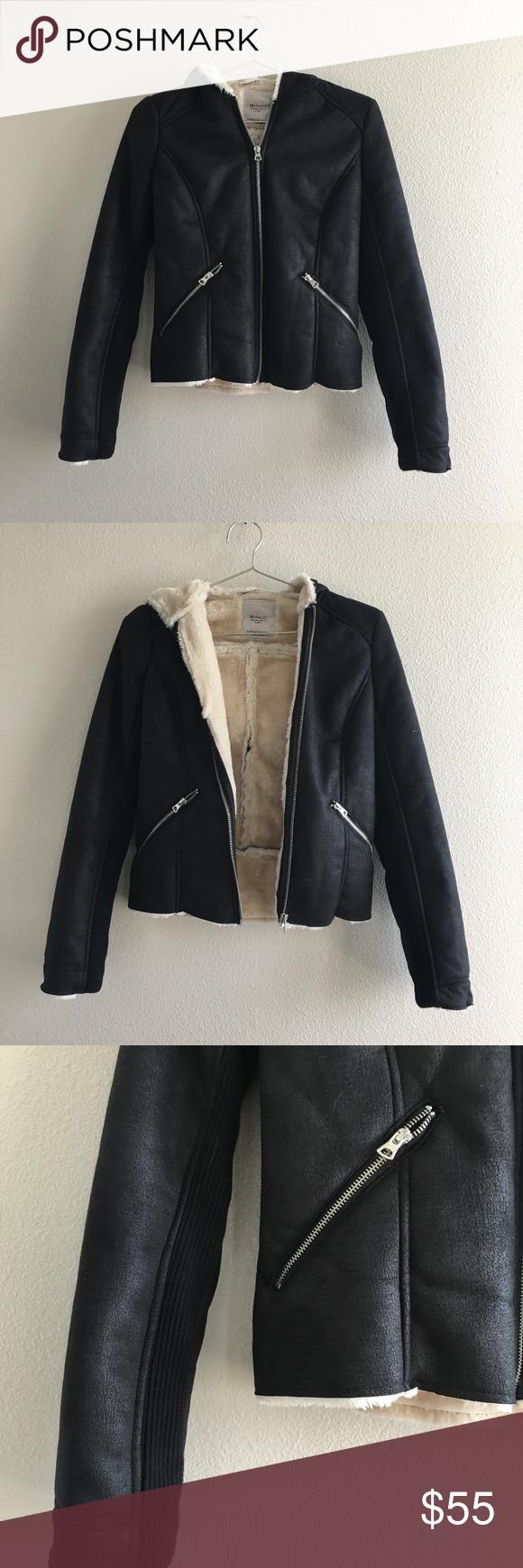 Zara Trafaluc Suede Fur Hoodie Jacket Fur Hoodie Jacket Jackets Hoodie Jacket [ 1740 x 580 Pixel ]