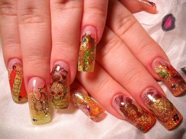 Ed Hardy Nails By Janya Nail Art Gallery Nail Designs