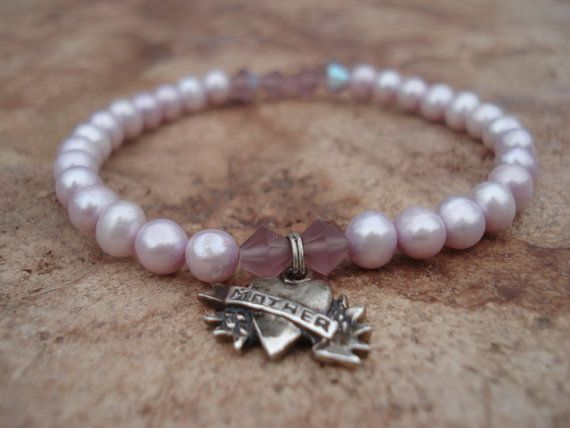 Mother's Day Bracelet//African Violet by MakeMeSmileJewelry,