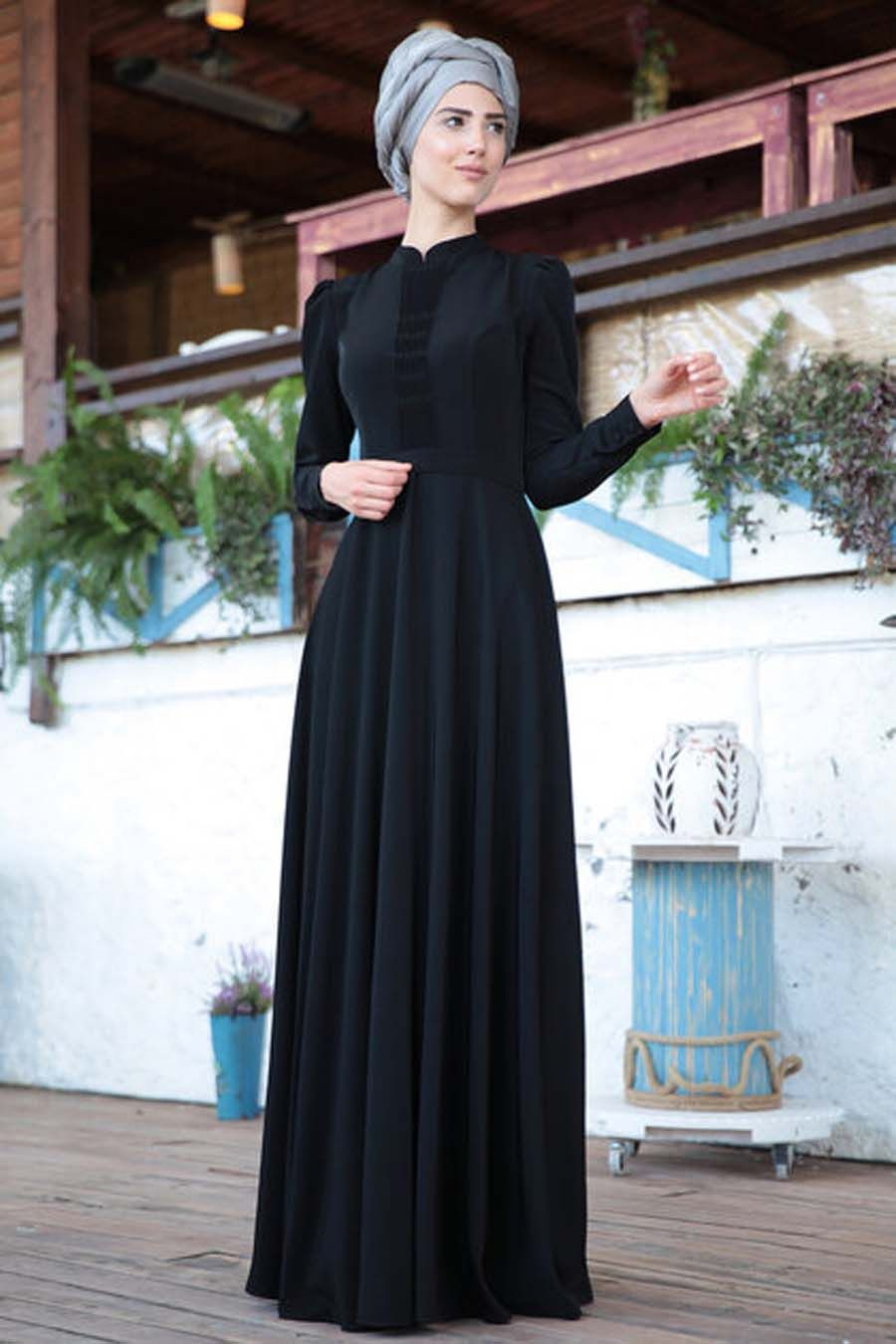 Tesettur Elbise Siyah Petek Elbise Elbise Modelleri Mankenler