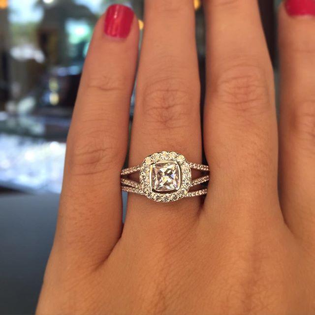 Mix And Match Wedding Bands Cushion Cut Engagement RingsSplit