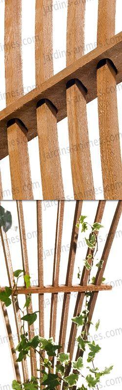 treillage eventail bois fsc france jardin pinterest eventail treillage et plante grimpante. Black Bedroom Furniture Sets. Home Design Ideas