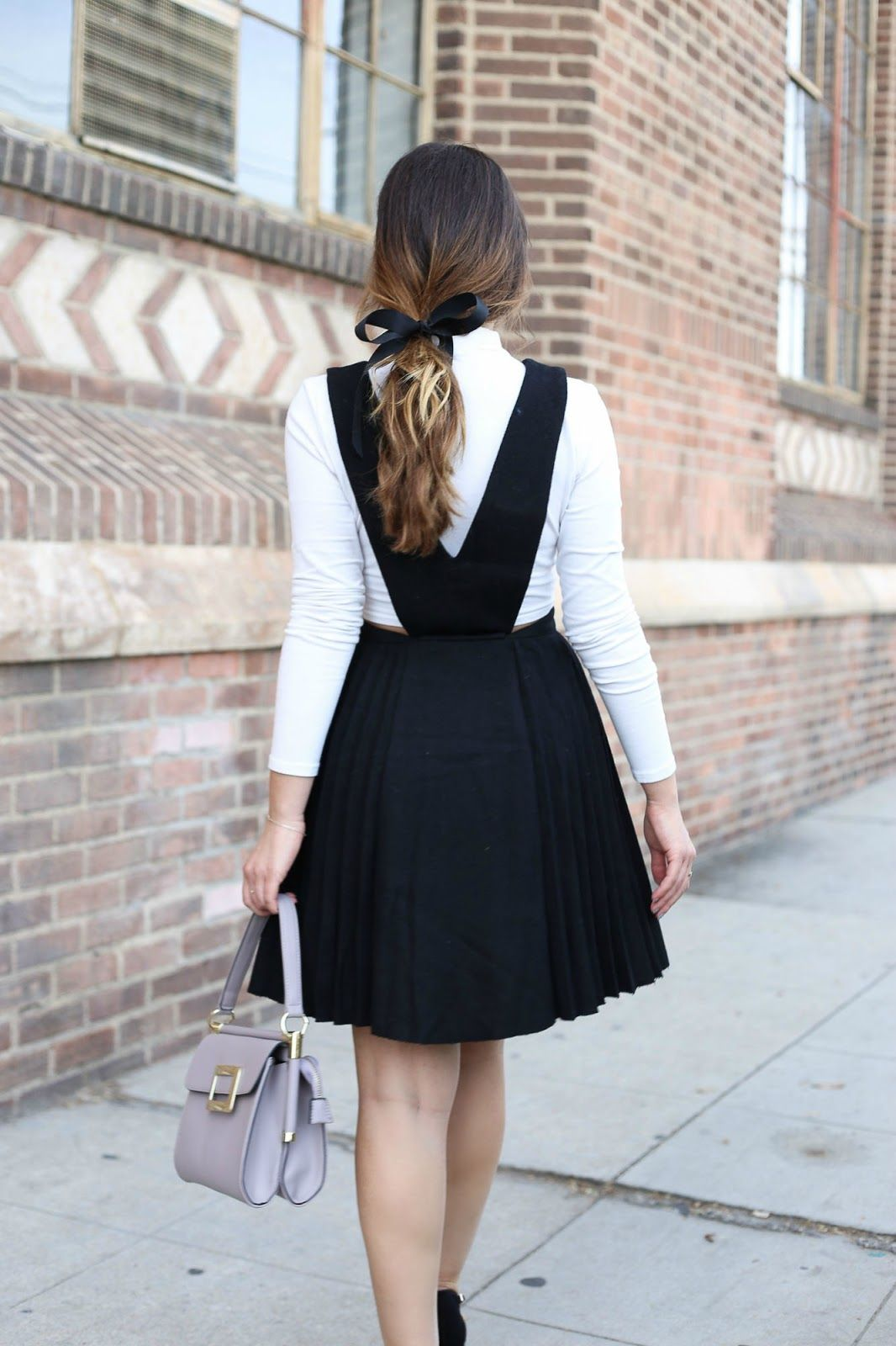 Stiletto Beats, ootd, outfit, pinafore, pinafore dress ...