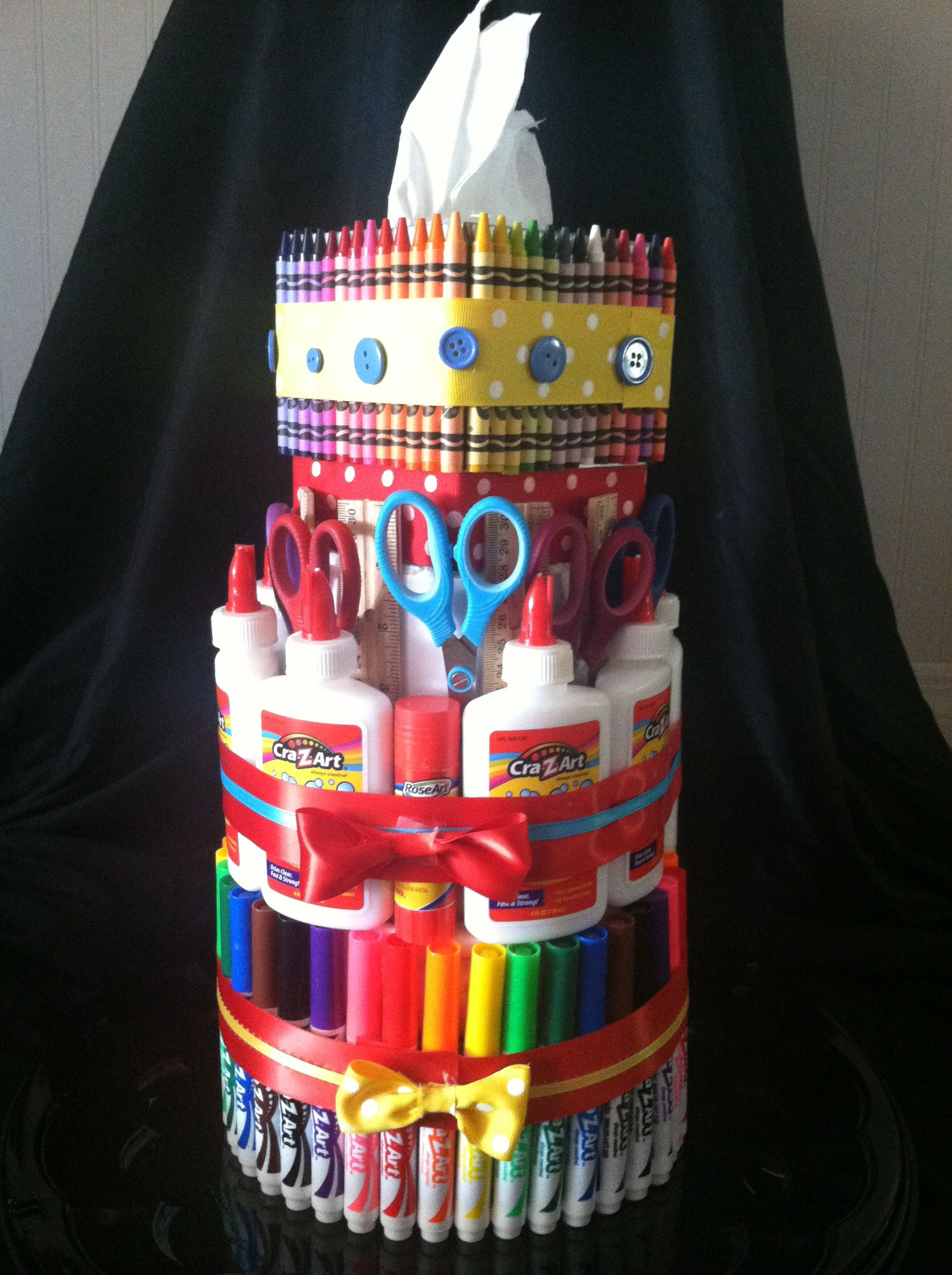 School Supply Cake | I Did It! (Pinterest Projects) | Pinterest ...