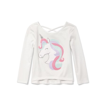 The Childrens Place Baby Girls Long Sleeve Unicorn Sweater