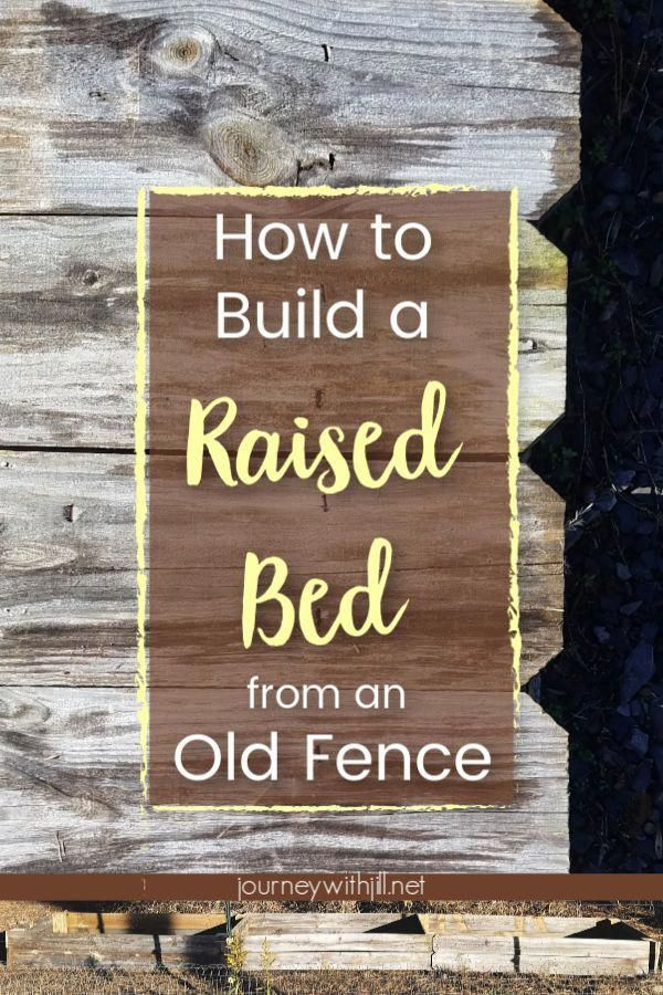 With this DIY Raised Garden Bed you can use old fence to build a new elevated g With this DIY Raised Garden Bed you can use old fence to build a new elevated g