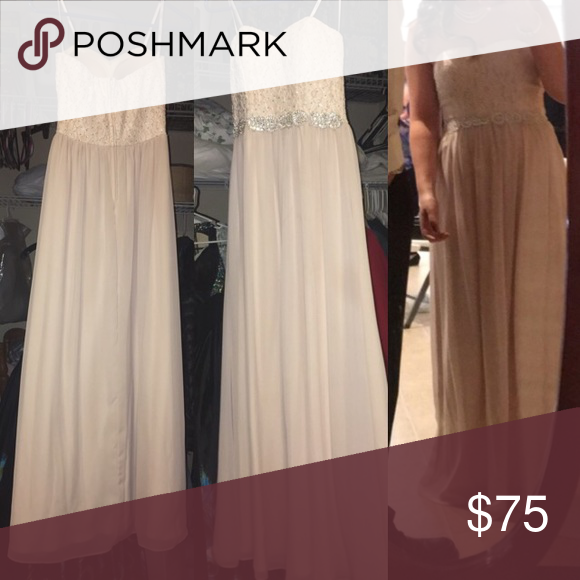 Prom dress Cream/ champagne color. Long dress. FINAL SALE Dresses Prom