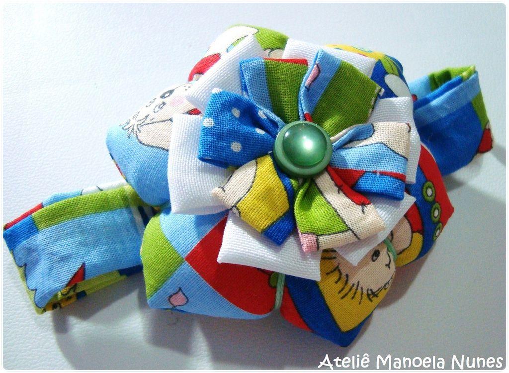 Alfineteiro Hexagonal para Máquina de Costura/Acessório de Fuxico em Formato de Flor