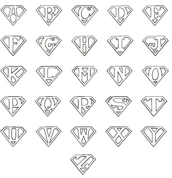 Any Letter Superman Style Rubber Stamp, Personalized Super