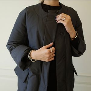 Insulated Collarless Coat