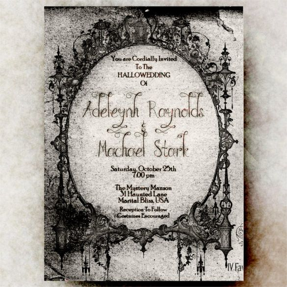 21 halloween wedding invitation templates free sample example