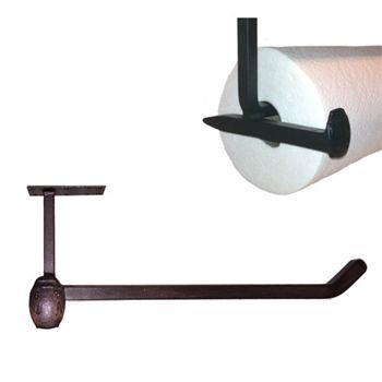Railroad Spike Under Cabinet Paper Towel Holder For Rustic Style Kitchens Paper Towel Holder Railroad Spikes Paper Towel