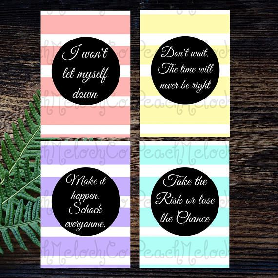Motivation - Planner Cards