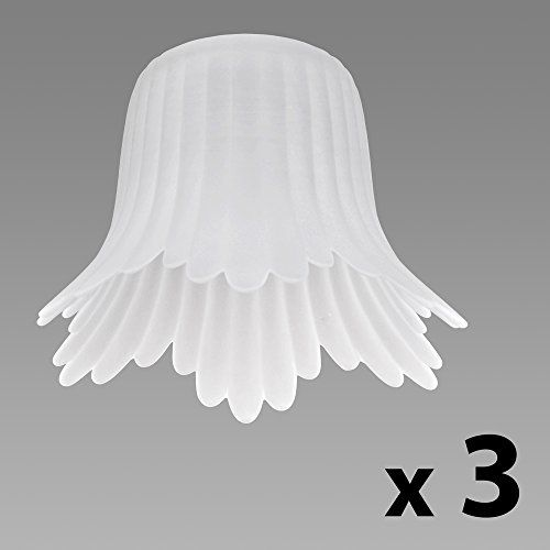from 12 99 set of 3 frosted white glass flower petal replacement