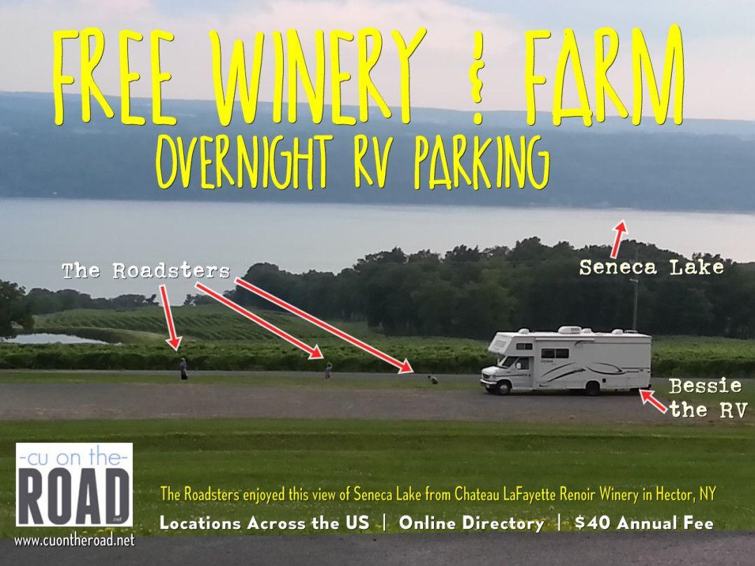 Free Winery Farm Overnight Rv Parking Rv Rv Adventure Rv Parks