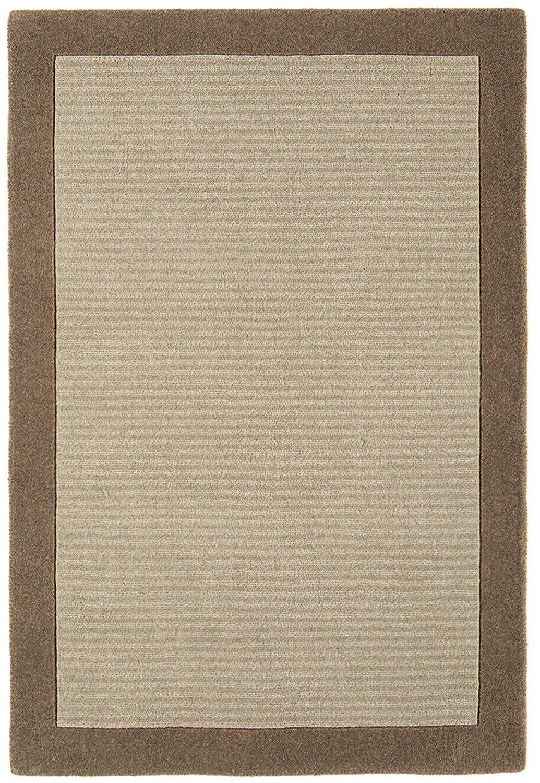 Teppich Wohnzimmer Carpet Klassisches Design MOORLAND RUG 100% Wolle  160x230 Cm Rechteckig Braun | Teppiche