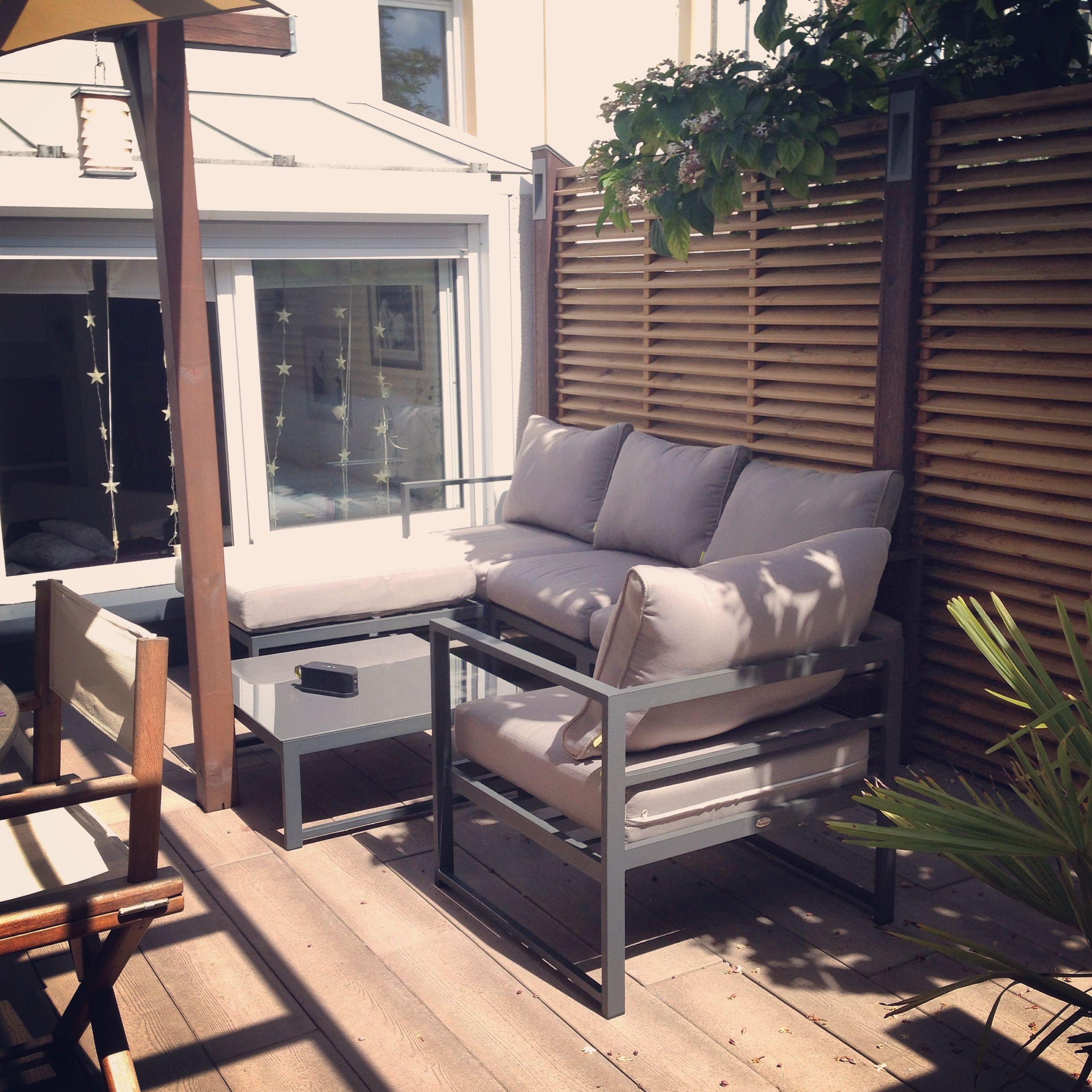 Acatium : salon de jardin 5 places en aluminium #jardin #terrasse ...