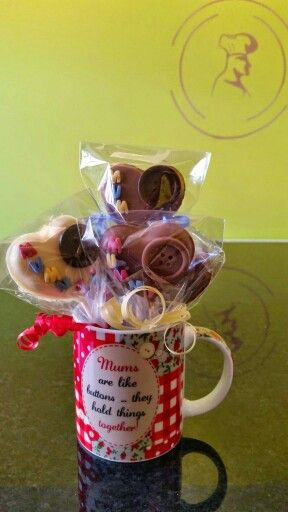 Mother's day chocolate lollies