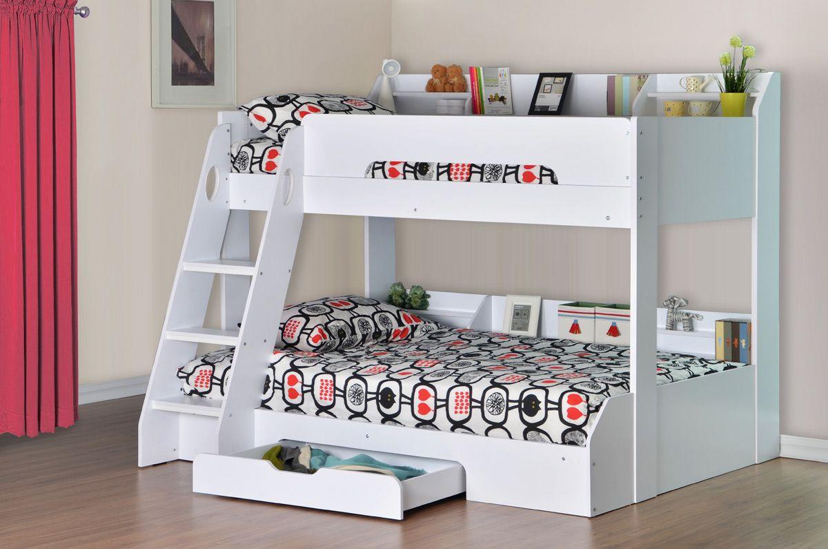 flair flick triple sleeper bunk bed  white  ideas for the house  - flair flick triple sleeper bunk bed  white