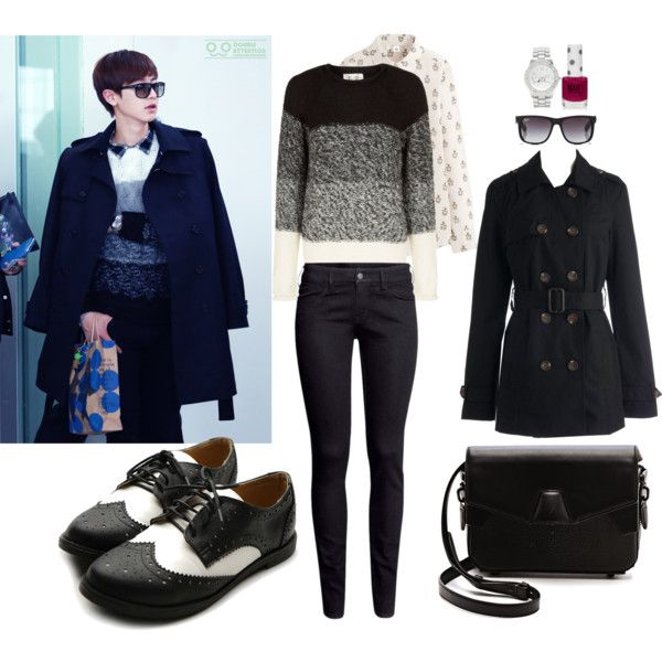 EXO Airport Fashion Chanyeol Inspired Outfit by smokingcrayonz on Polyvore featuring Uniqlo Hu0026M ...