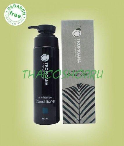 Кондиционер кокосовый против перхоти и выпадения волос Tropicana, 250 мл