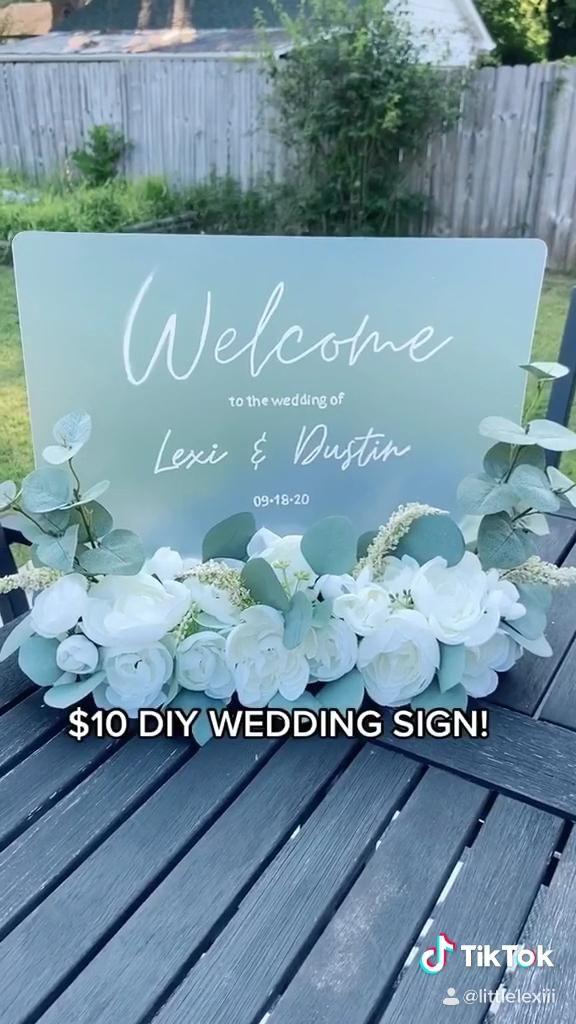 Dollar Tree Wedding Sign! Lexi Combs (@littlelexii