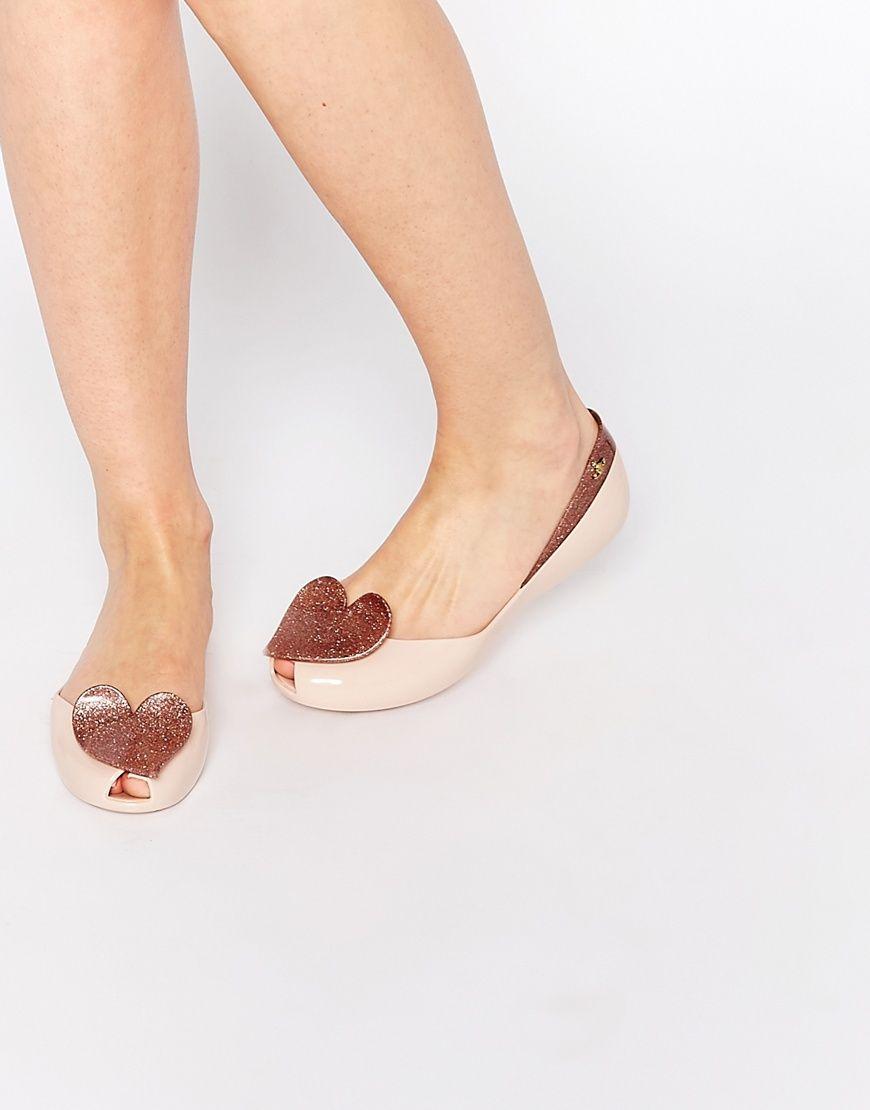 Vivienne+Westwood+For+Melissa+Blush+Queen+Flat+Shoes