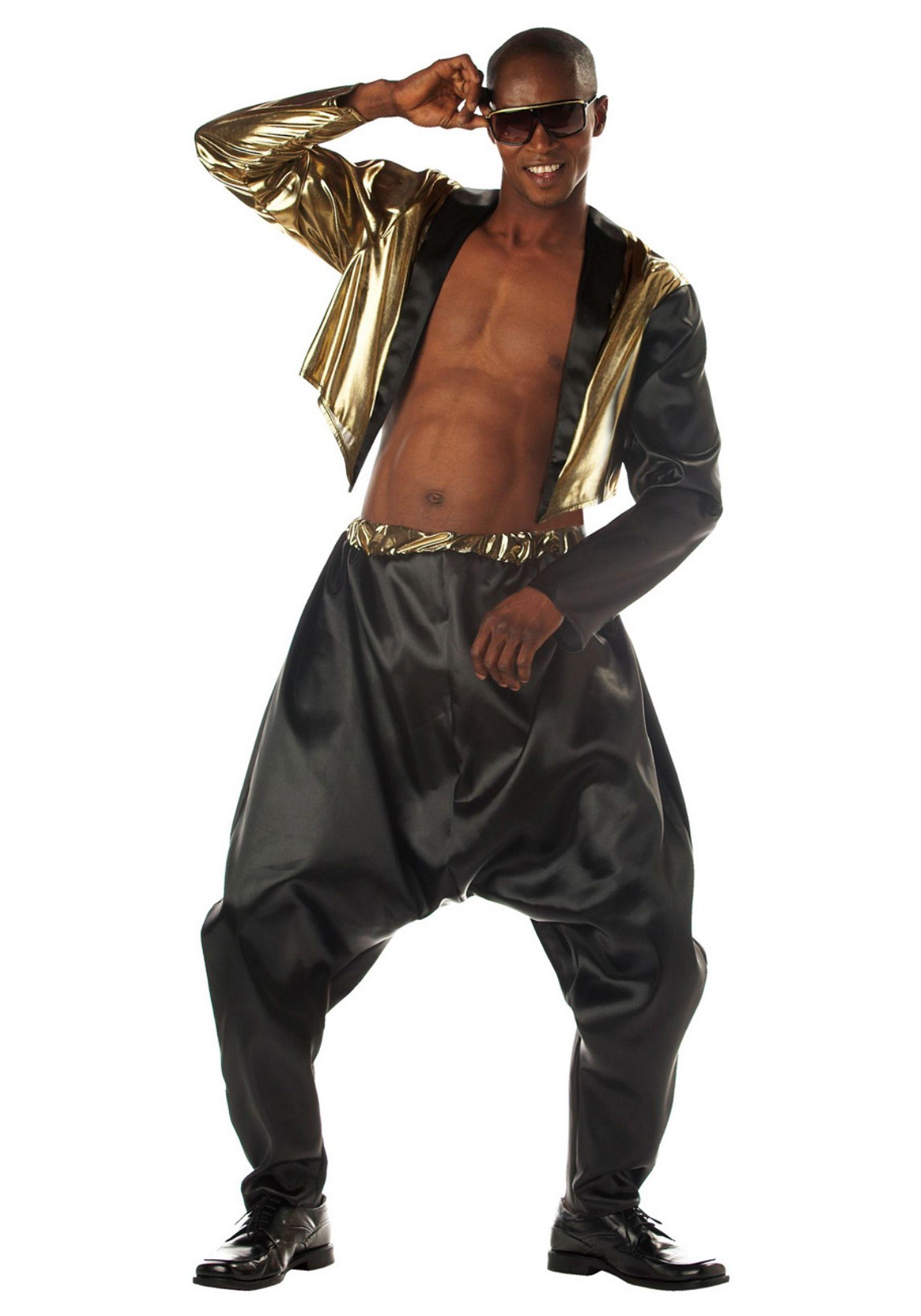 Old School Hip Hop Graphic Leggings Dress Up Halloween Adult Costume Accessory