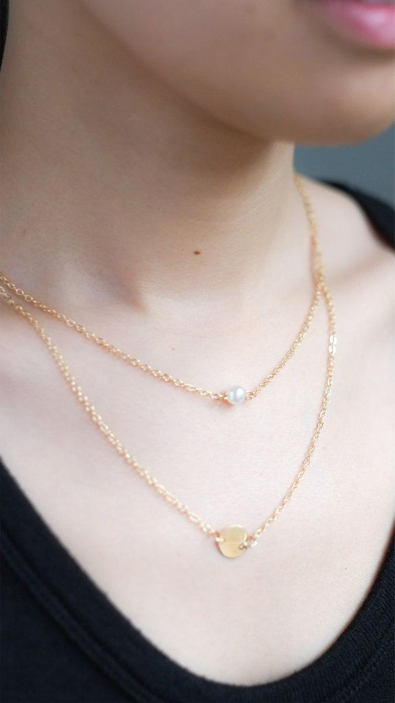 Double Pendant Pearl Necklace – pasteldress