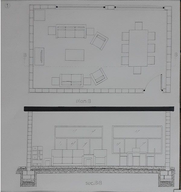 Plan Section B For 7 Persons Room Planning Living Room Designs Room Design